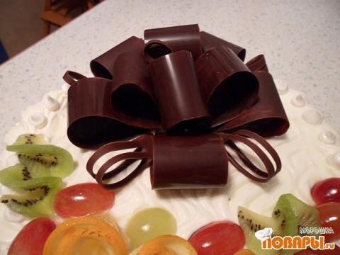 Украшения для торта из шоколада своими руками