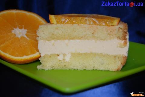 Бисквитный торт с апельсином фото
