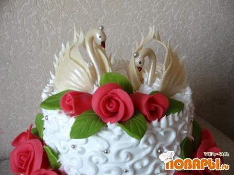 Как сделать лебедей для торта из шоколада