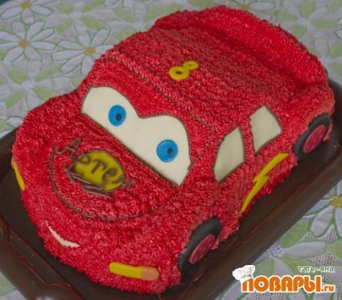 Торт машинка  из сливок 100