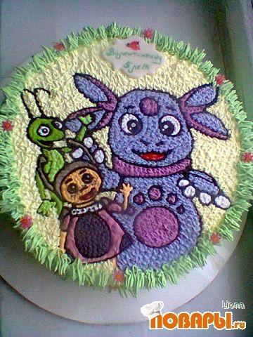торт кремовый лунтик фото