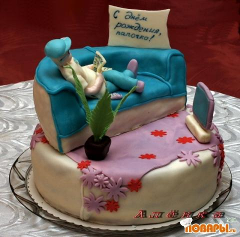 Оформление тортов мастикой для мужчин