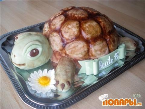 Торт черепаха с фото пошагово в домашних условиях