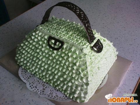 """Торт  """"Сумочка """".  Давно вынашивала идею кремовой сумки."""