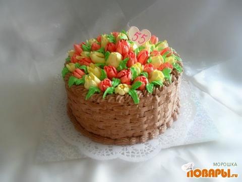 Персиково мятный торт фото 7