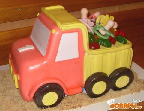 Мастер класс торта грузовик 100