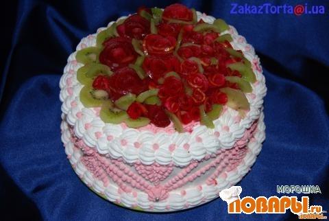 торт зефиром фруктами фото