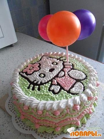 Как украсить торт для девочки на день рождения своими руками из крема 73