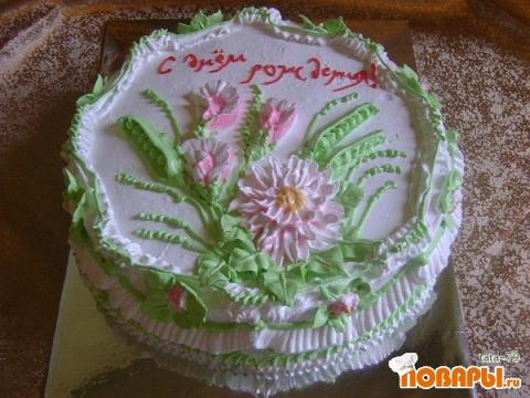 Украшение тортов для девочки белковым кремом фото