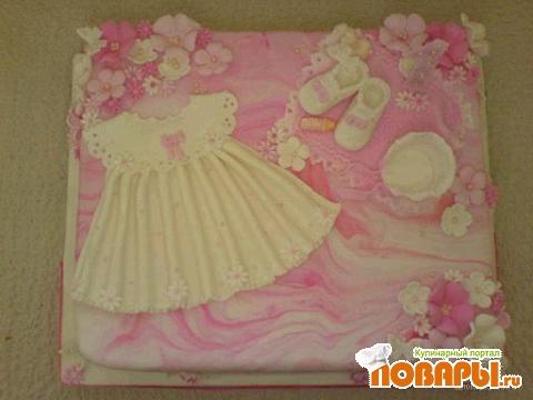 Мой сегодняшний на годик девочке. тортик для АлСЂЂЂши.