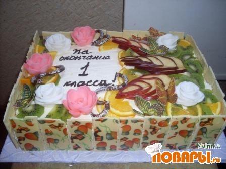 Торт на окончание 1 класса