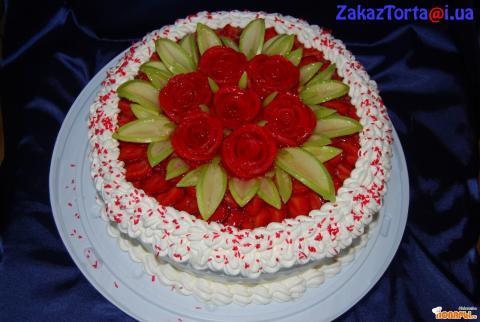 Украшение желейного торта фото