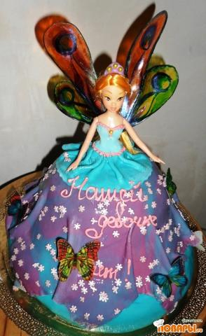 торт кукла винкс из мастики.