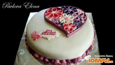Торт с мастикой для девочки рецепт с пошагово