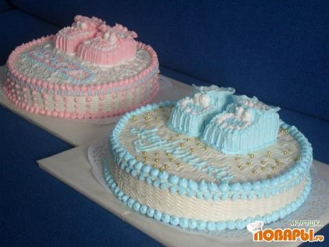 Как сделать пинетки для торта из крема