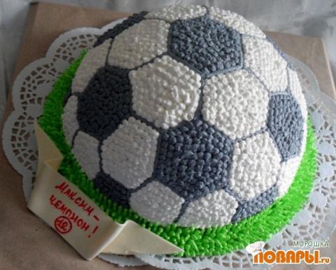 Торт в форме футбольного мяча своими руками 29
