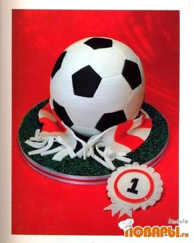 Как сделать торт футбольный мяч своими руками 85