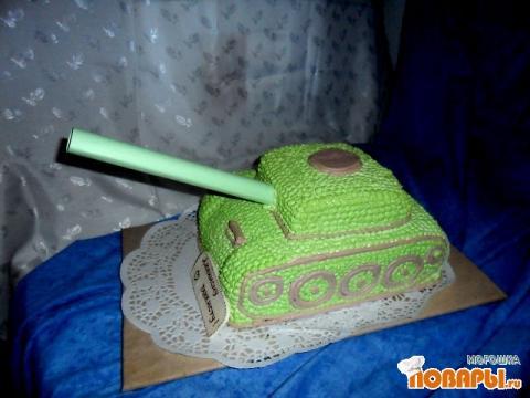 Как сделать торт танк из крема пошагово с