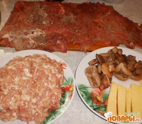 Мясные зразы с грибами 2  рецепты с фото на vpuzocom