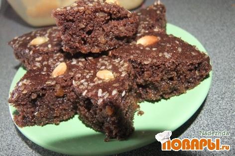 Рецепт Басбуса/Наммура вариант с орехами и шоколадом