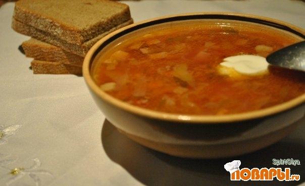 Рецепт Борщ с салями