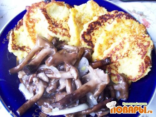Рецепт Картофельные блинчики с кунжутом