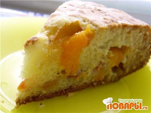 Рецепт Сметанный фруктовый пирог