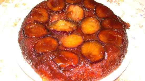 Рецепт перевернутый сливовый пирог