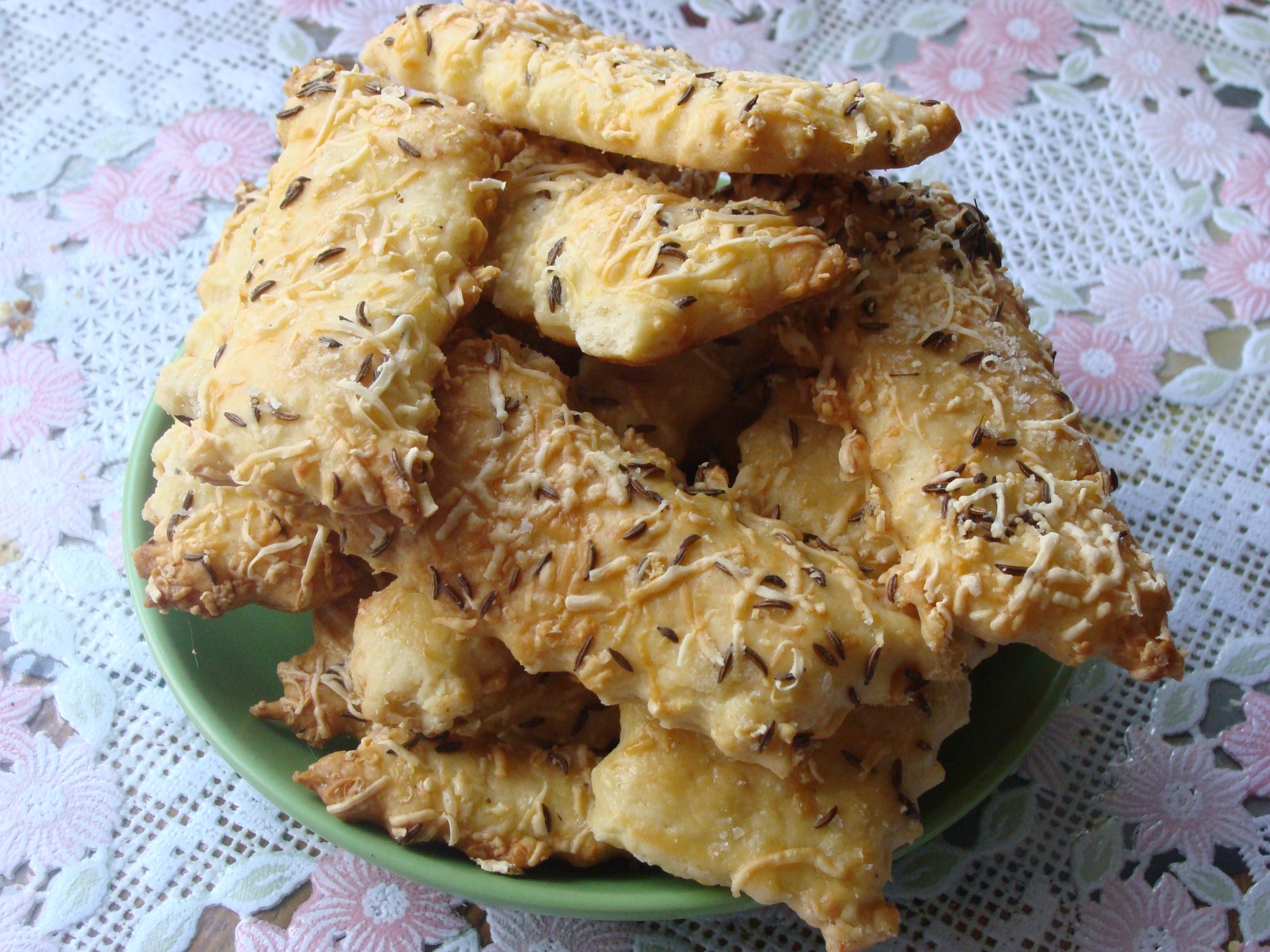 Рецепт Сырное печенье с тмином