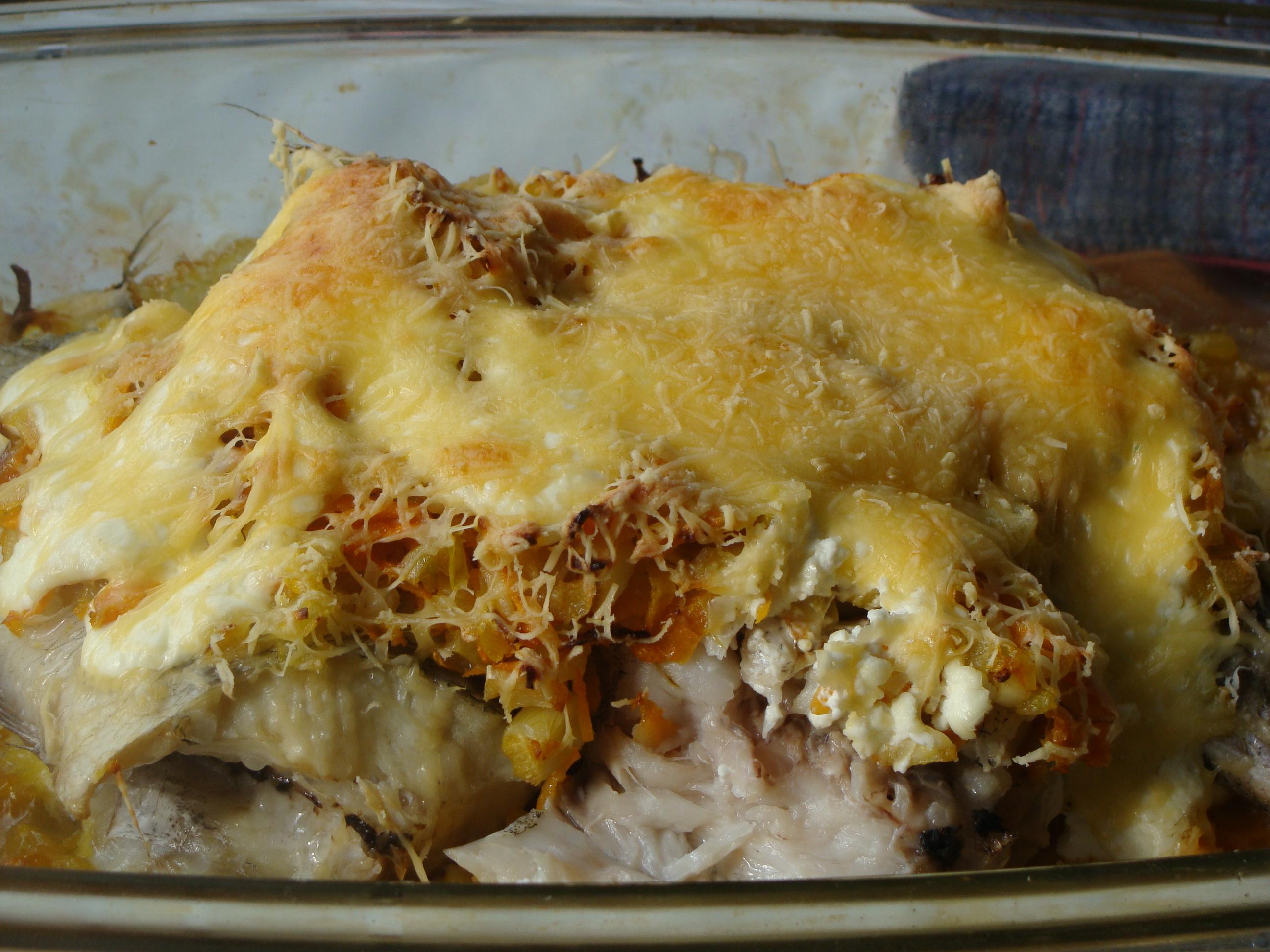 Рецепт Рыба под луково-чесночным соусом