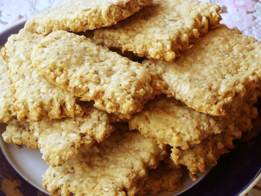 Рецепт Печенье овсяное с кунжутом