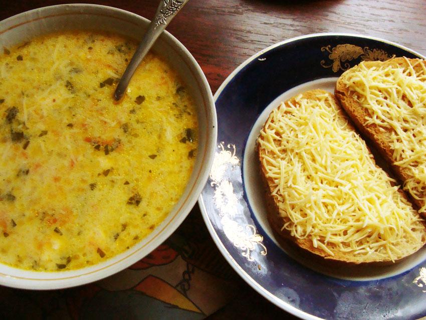 Рецепт Суп с плавлеными сырками