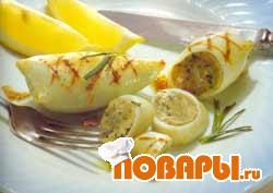 Рецепт Кальмары фаршированные (мастер-класс)