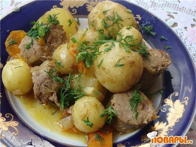 Рецепт Гуляш с колбаской