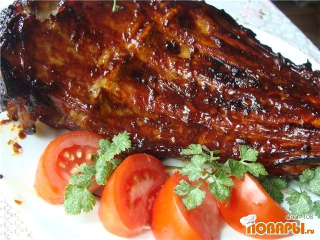 Рецепт Телячьи ребра, запеченные в медовом соусе