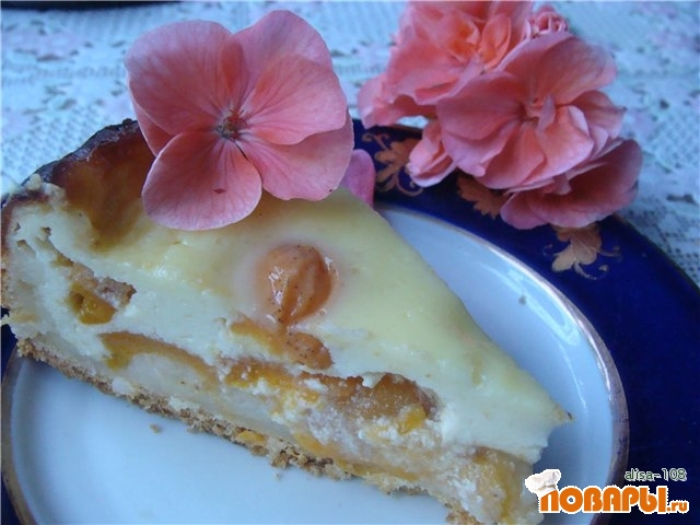 Рецепт Пирог абрикосовый со сметанным кремом