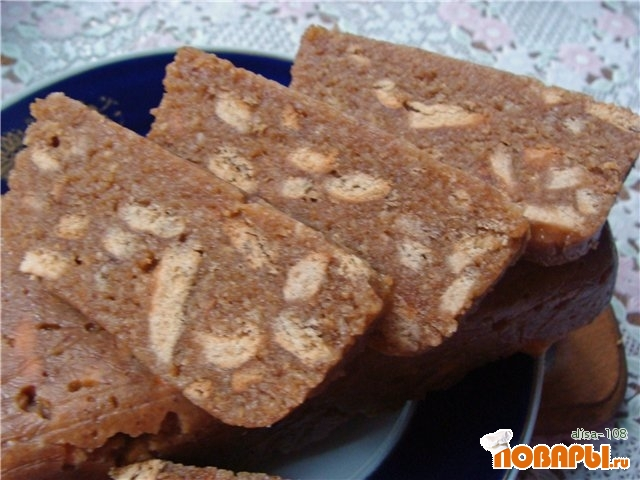 Рецепт Сладкая колбаска из ирисок
