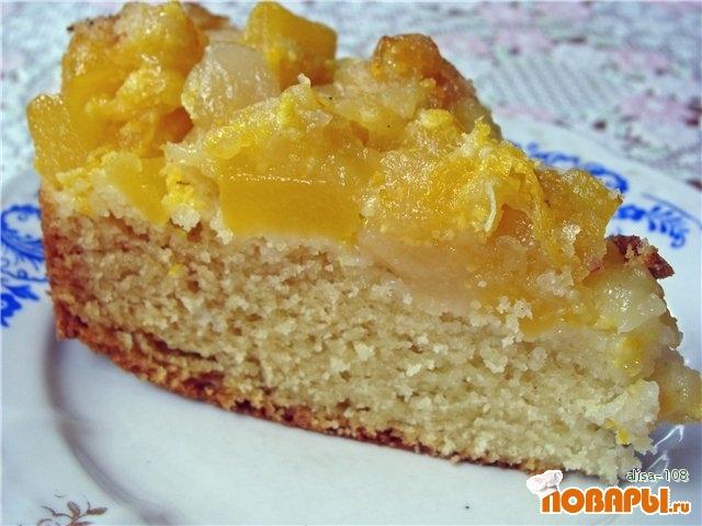 Рецепт Апельсиново-тыквенный пирог