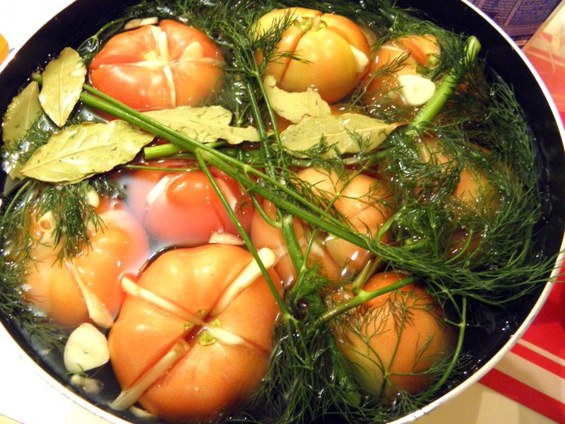 Рецепт Квашенные помидоры