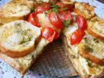Киш из кабачков с чесночным хлебом
