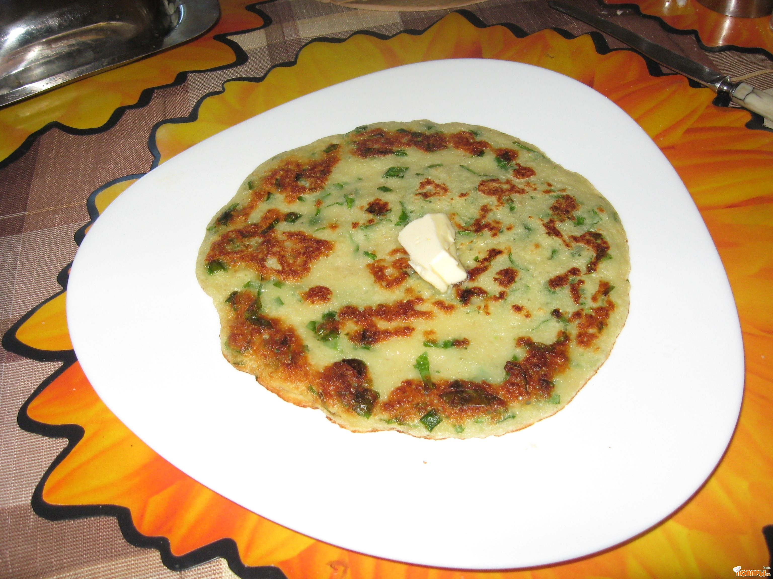 Рецепт блины из молодого картофеля с зеленью