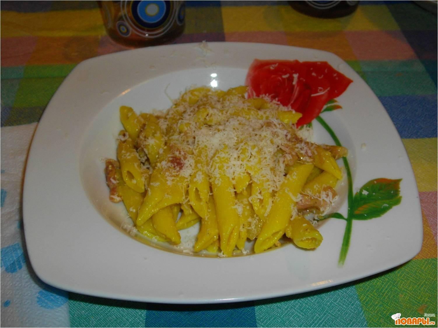 Рецепт Спагетти алла карбонара.