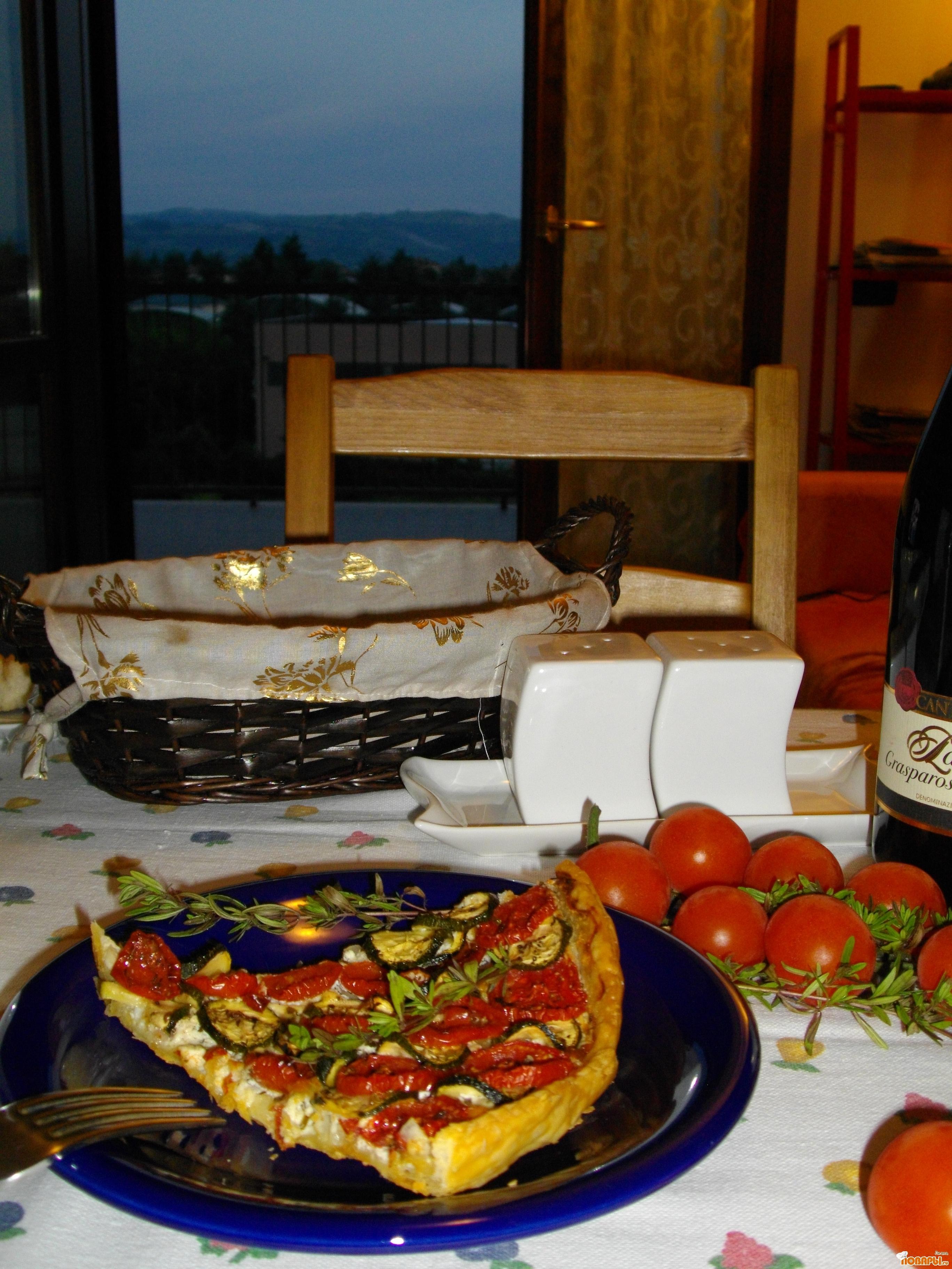 Рецепт Пирог с ароматом трав и козьим сыром....неповторимое сочетание...