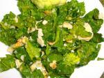 Салат из шпината по-итальянски.