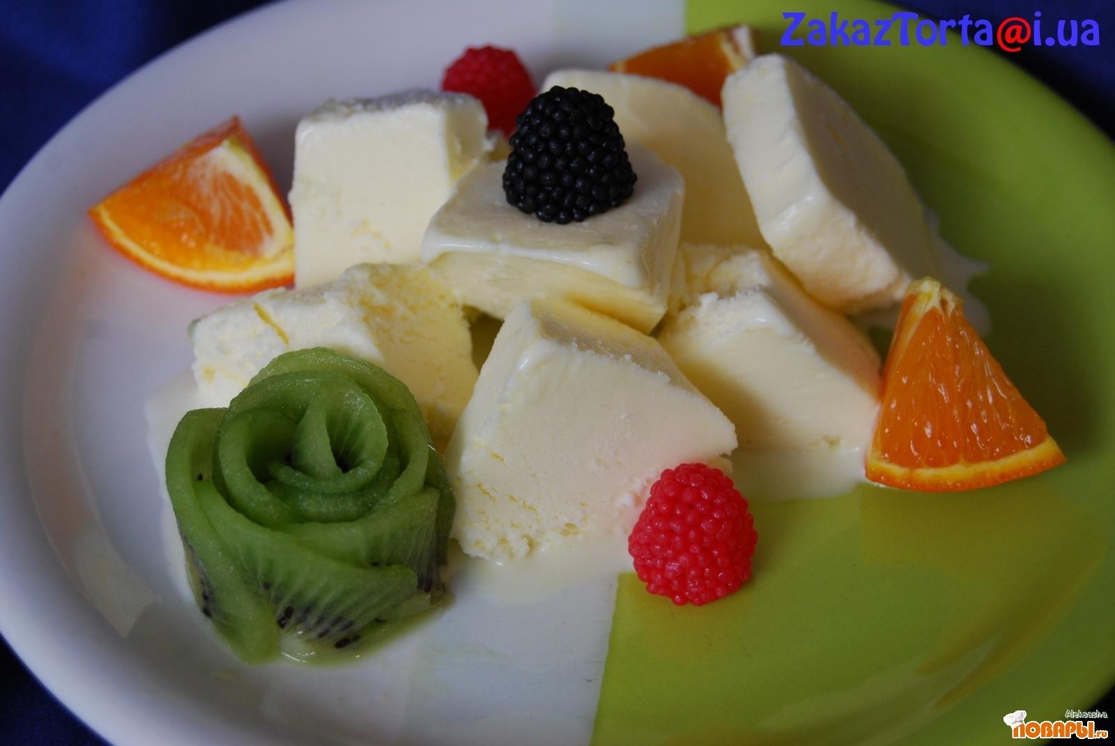 Рецепт Домашнее ванильное мороженое