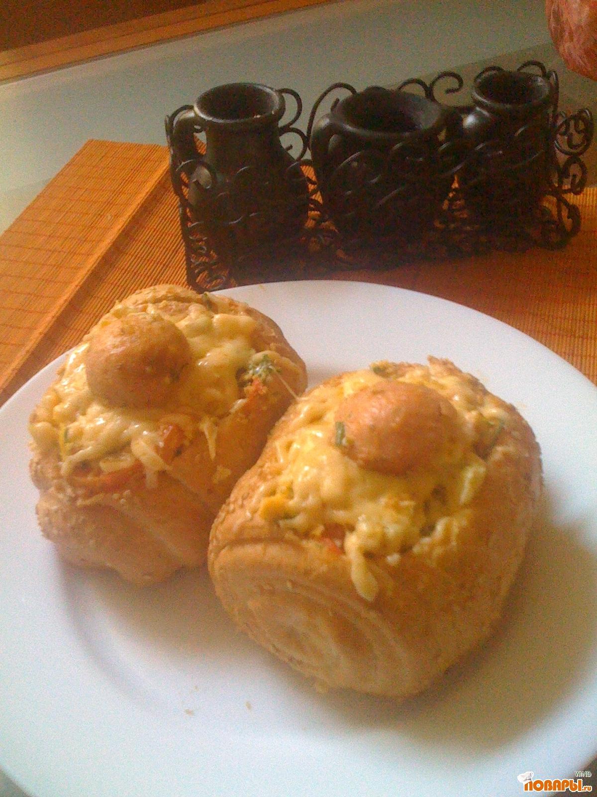 Рецепт утренние фаршированные булочки