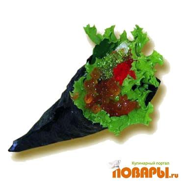 Рецепт Рецепт темаки-суши (hand-rolls)