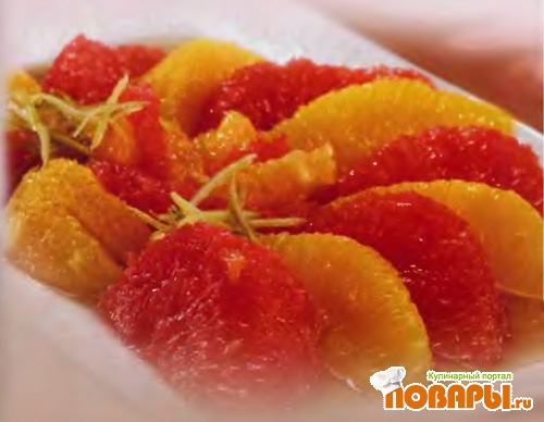 Рецепт Грейпфруты и апельсины в сиропе