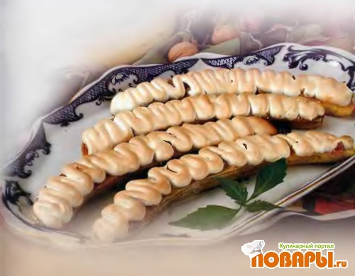 Рецепт Бананы с меренгами