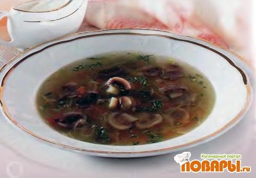 Рецепт Щи кислые с грибами